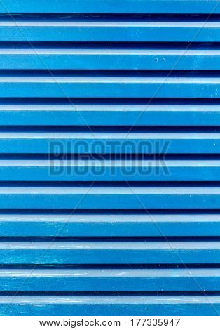 blue ribbed metal texture background vertical image