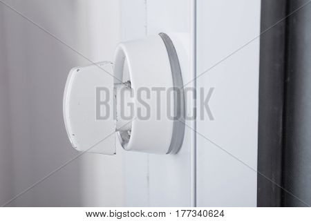 Close Up Door Knob Of Glass Door