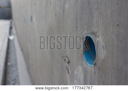 waste water pipe or water drainage channel.
