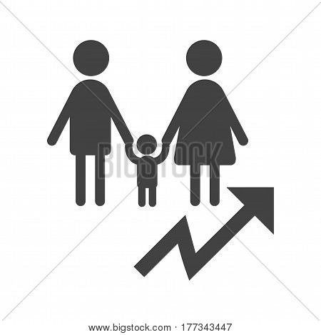 Growth, population, graph icon vector image. Can also be used for community. Suitable for mobile apps, web apps and print media.