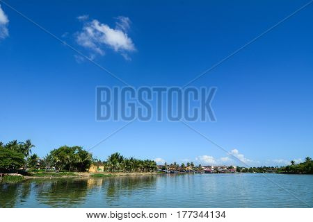 River Scenery In Hoi An, Vietnam