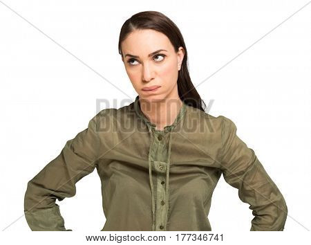 Angry and annoyed woman portrait