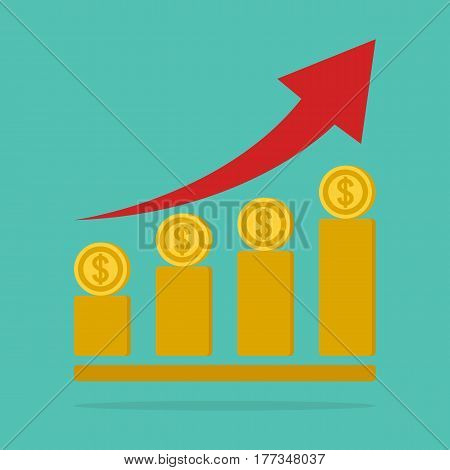 money stairway money growth concept. business concept.