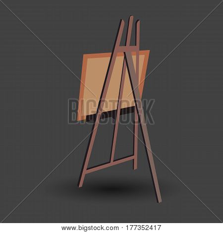 easel vector canvas artist art board wood