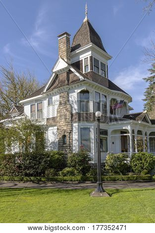 Deepwood Museum and gardens historical house in Salem Oregon.