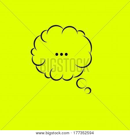 Bubble think. Cartoon quote isolated. Vector illustration