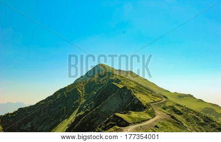 Caucasus mountain Rosa Peak in summer. Krasnaya polyana Rosa Khutor Sochi Russia