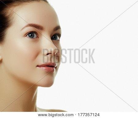 Beautiful Face Of A Young Caucasian Woman. Woman Beauty Face