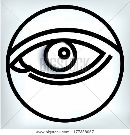 vector illustration eye human black eyeball look