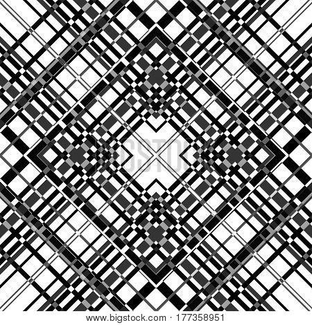 Seamless plaid checkered pattern print background  fabric