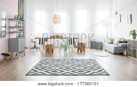 Functional Apartment With Dining Table