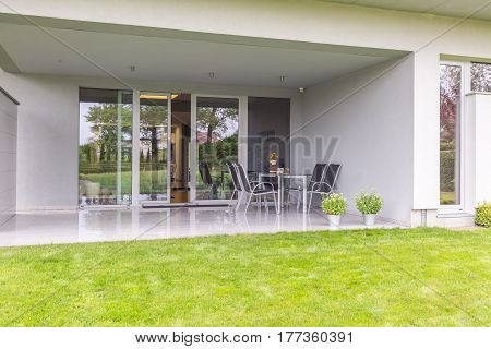 Modern Concrete Terrace