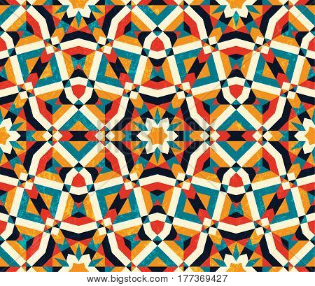 Abstract geometric background. Colorful seamless pattern. EPS10 vector illustration.