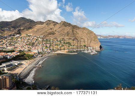 Machico bay on the east coast of Madeira Island Portugal