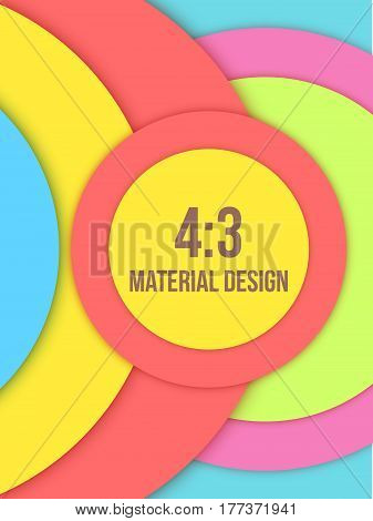 Background Unusual modern material design. Editable Abstract Vector Illustration.