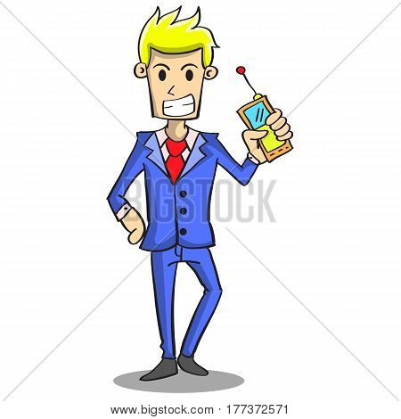 Collection stock of businessman style design character vector