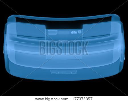 X Ray Vr Headset Isolated On Black