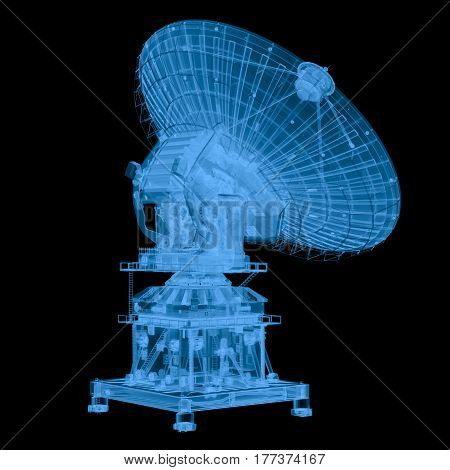 X Ray Satellite Isolated On Black