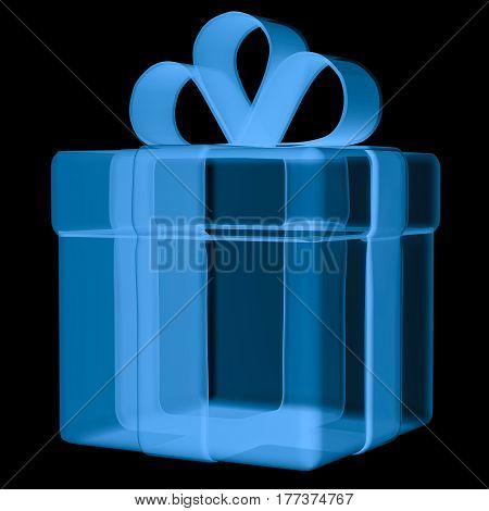 X Ray Gift Box Isolated On Black