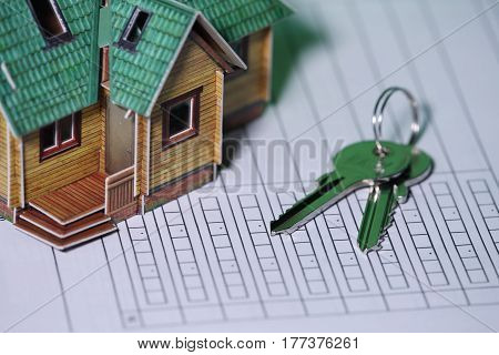 Signs the contract Concept of investment credit real estate rental