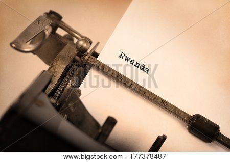Old Typewriter - Rwanda