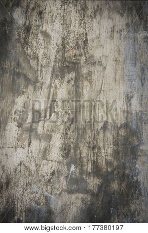 Abstract painted grunge black and gray metal background
