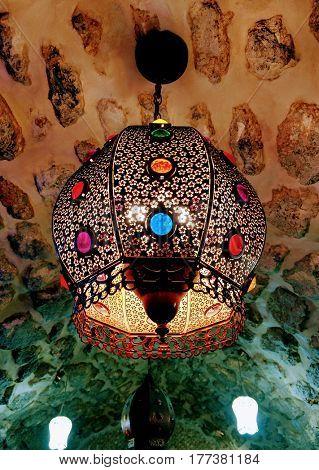 Traditional Arabic chandelier. Handmade