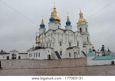 Sophia Cathedral in Tobolsk city. It is one of the best places of interests there.