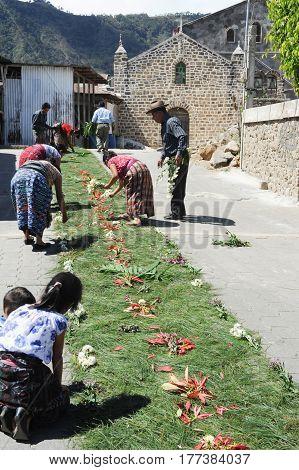 Maya Celebration At The Village Of San Juan La Laguna
