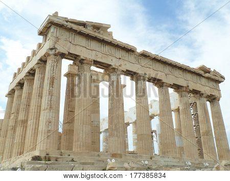 The Parthenon on the Acropolis of Athens, Greece