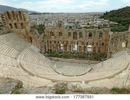 Odeon of Herodes Atticus Theater, Acropolis of Athens, Greece
