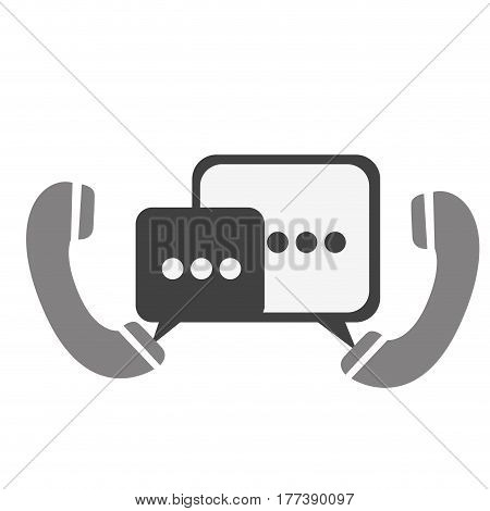 phones with chat bubbles icon, vector illustration design
