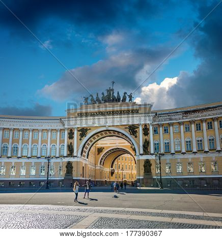 Arch Of General Staff, St Petersburg, Russia
