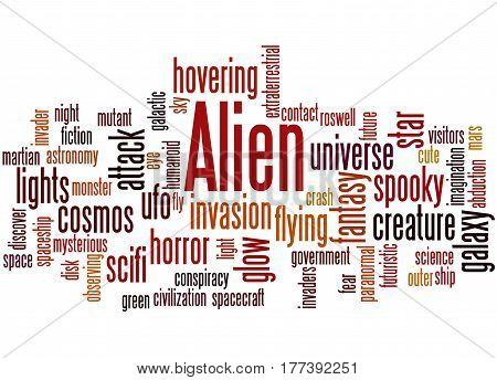 Alien, Word Cloud Concept 6