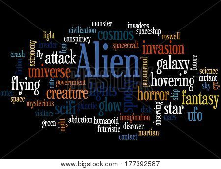 Alien, Word Cloud Concept 7