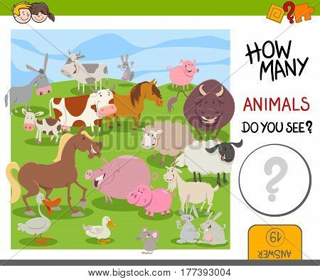 How Many Farm Animals Game