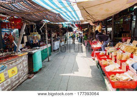 Market Street In Tai O, Lantau Island, Hong Kong