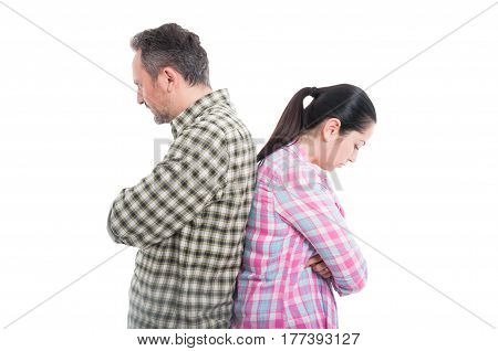 Young Lovers Not Speaking To Each Other