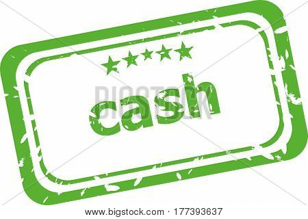 Cash Rubber Stamp Over A White Background