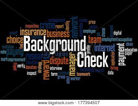 Background Check, Word Cloud Concept 3