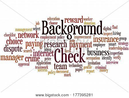 Background Check, Word Cloud Concept 7