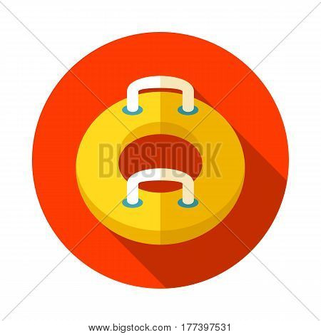 Towable Water Tube Inflatble Boat Floating Raft vector icon. Beach. Summer. Summertime. Holiday. Vacation ride water sport eps 10