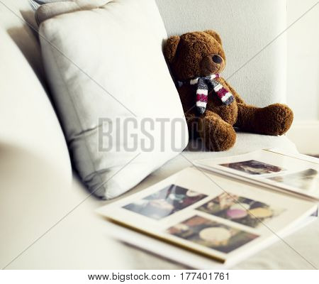 Sofa Bear Doll Leisure Photo Album Cozy