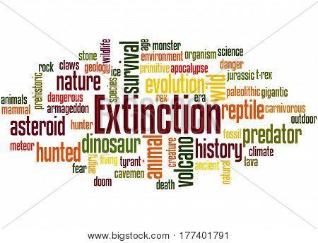 Extinction, Word Cloud Concept 4