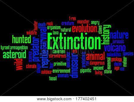 Extinction, Word Cloud Concept 8