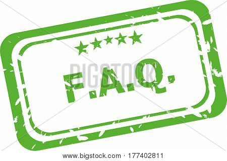 Faq Grunge Rubber Stamp Isolated On White Background