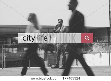 City Life Urban Scene Rush Hour Fast Paced