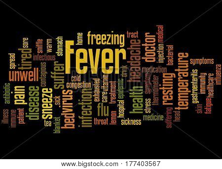Fever, Word Cloud Concept 7