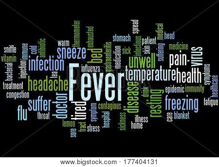 Fever, Word Cloud Concept 9