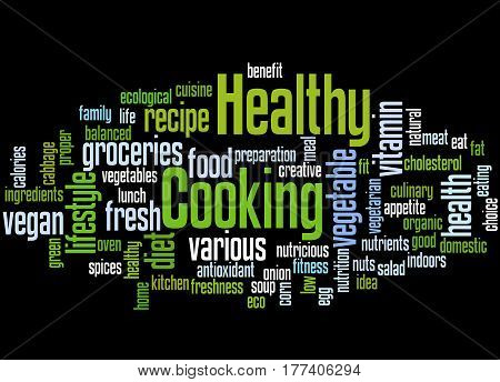Healthy Cooking, Word Cloud Concept